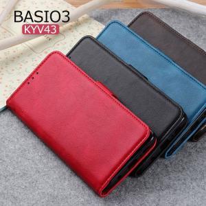 BASIO3 KYV43 ケース カード収納 ベイシオ 3 財布型ケース ベルトなし スマホカバー 財布型 薄い au KYV43 ケース 京セラ BASIO3 KYV43 ケース スタンド機能 initial-k