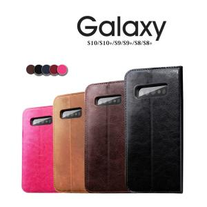 Galaxy S10+ケース 財布型 カード収納 Galaxy S9手帳型ケース 2つ折り Galaxy S9+カバー 脱着簡単 Galaxy S8ケース 手帳型 スタンド機能 S8+スマホケース|initial-k