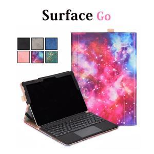 Microsoft Surface Goケース レザー Surface Goカバー 手帳型 キズ防止 Surface Go保護ケース ペンホルダー付き Surface Go保護カバー スタンド機能付|initial-k