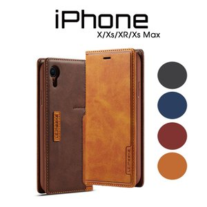 iPhoneXケース iPhoneXsケース 手帳型 革 レザー iPhoneXRケース 磁石付き 手帳 iPhoneXs Max手帳型ケース シンプル 二つ折り アイフォンXケース カード入れ|initial-k