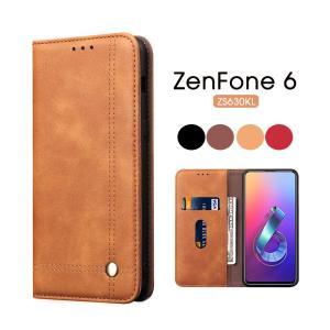 ZenFone 6 ZS630KLスマホケース 手帳型 シンプル ZenFone 6ケース レザー スタンド機能付き ZenFone 6 ZS630KLZenFone 6 ZS630KLケース 手帳 横置き機能|initial-k