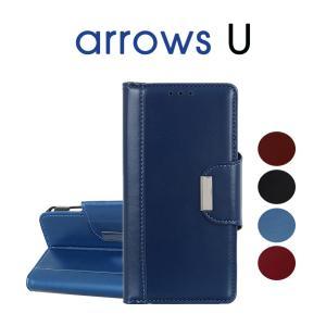 arrows U専用ケース arrows Uケース 手帳型 アローズ ユーケース アローズ ユー手帳型ケース カードポッケト付き arrows Uカバー 耐衝撃 arrows U手帳型カバー initial-k