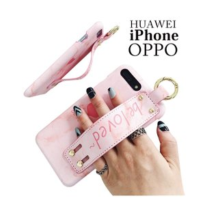 Huawei P20 liteケース 背面保護 Huawei P20 Proケース スマホスタンド iPhone6ケース 背面 可愛い iPhone7カバー 背面カバー iPhone8ケース ハンド付き|initial-k