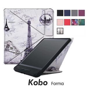 Kobo Formaケース カバー カラフル Koboケース コボ カバー スタンド タブレット対応 ケースKobo Forma 手帳型 耐衝撃|initial-k