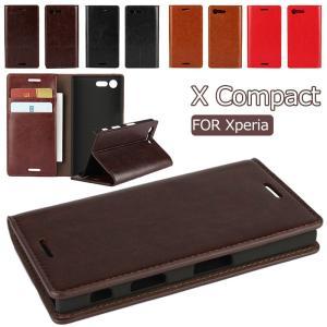 ○対応機種:Xperia X Compact(SO-02J)  ○素材:本革+TPU ○カラー:コー...