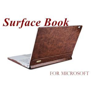 正規品 microsoft surface book ケース マグネット脱着 2WAY サーフェス ブックカバー 保護分離式 2WAY 本革 手帳多機能|initial-k