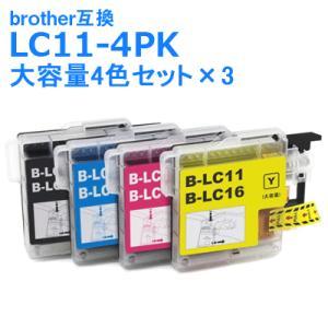 LC11-4PK / 4色セット ×3 ブラザー 互換 プリンターインク brother,LC11BK,LC11C,LC11M,LC11Y 送料無料 クーポン・ポイント利用に|ink-bin