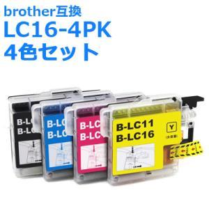 ブラザー 互換 インク LC16-4PK (LC11) 4色組 brother インクカートリッジ LC16BK LC16C LC16M LC16Y +黒1個付き|ink-bin