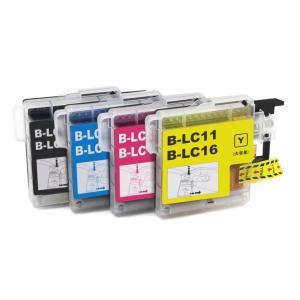 ブラザー 互換 インク LC16-4PK (LC11)  4色組 お徳用3パック brother 16BK 16C 16M 16Y 各3個+黒3個 送料無料|ink-bin