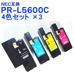 NEC 互換 トナー PR-L5600C 4色セット お徳用3パック PR-L5600C-19 PR-L5600C-18 PR-L5600C-17 PR-L5600C-16|ink-bin