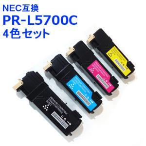 NEC 互換 トナー PR-L5700C 4色セット お徳用2パック  PR-L5700C-24K,L5700C-18C,L5700C-17M,5700C-16Y 送料無料|ink-bin