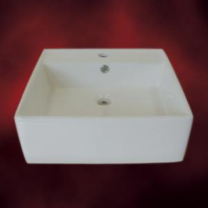 [過去取り扱った商品]-セール-洗面ボウル(手洗い鉢・陶器洗面ボール・洗面台・オンカウンターシンク)W470×D470×H170 A-030|ink-co