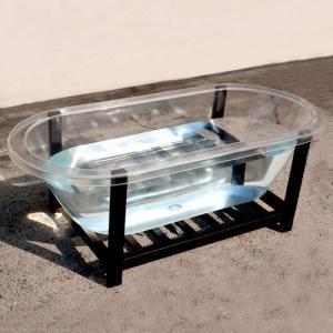 透明バスタブ(置き型・浴槽・お風呂・多少キズあり)サイズW1705×D810×H605 INK-0202001H|ink-co