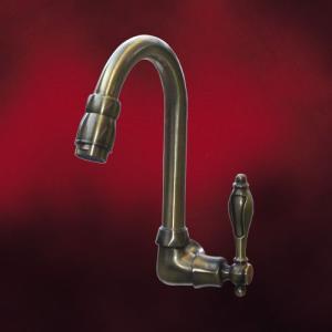[過去取り扱った商品]壁付け 単水栓 洗面ボウル 洗面台 アンティーク風 古金 INK-0302024H|ink-co