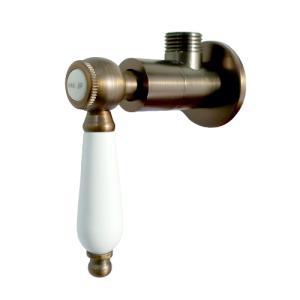 アングル止水栓(壁給水・細かいキズ有り・おしゃれ) 古銅 INK-0304018GT|ink-co