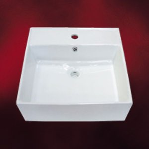 陶器洗面ボウル(手洗い鉢・陶器洗面ボール・手洗器・置き型・オンカウンターシンク)W470×D460×H160 INK-0402013H|ink-co