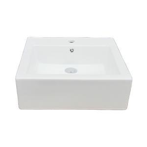 洗面ボウル(手洗い鉢・陶器洗面ボール・手洗器・置き型・シンク)W470×D460×H155 INK-0402020H|ink-co