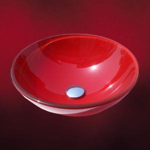 【過去取り扱った商品】ガラス洗面ボール(手洗器・手洗い鉢・洗面ボウル・洗面台)W425×D425×H150 INK-0404008H|ink-co