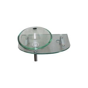 小さいガラス手洗い器(小さい洗面台・壁付コンパクトタイプ・トイレ用)INK-05020020G 正円タイプ(280mm) クリア|ink-co