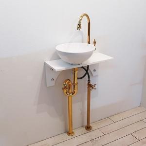 [過去取り扱った商品]洗面台セット お得 壁付け 水栓の色が選べる 白 ホワイト W500×D200 | 品番【Eセット91】|ink-co
