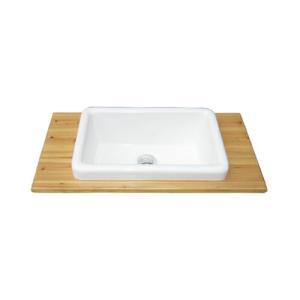 洗面ボウル付き木製板(ナチュラル) W600×D300×T17 INK-0504079H|ink-co