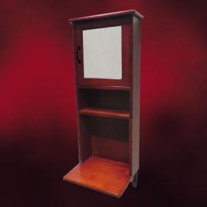 [過去取り扱った商品]木製ミラーキャビネット一体型化粧台(アイアンブラケット付属・ブラウン)  W440×D350×H1020 INK-0504135Hset|ink-co