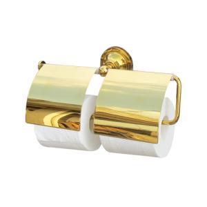 2連トイレットペーパーホルダー(紙巻器・サニタリー)金・ゴールド INK-0801031H|ink-co