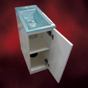 [過去取り扱った商品]小さい洗面化粧台(小型洗面台・薄型・スリムタイプ)INK-1001-1set-silverシルバー|ink-co