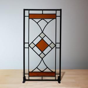 ステンドグラス(アンティーク風・装飾ガラス・シンプル・雑貨・お洒落) INK-1103007H|ink-co