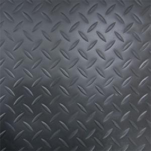 縞鋼板風防滑保護シート|滑り止め(ブラック・黒) 1850mm×918mm INK-1316001