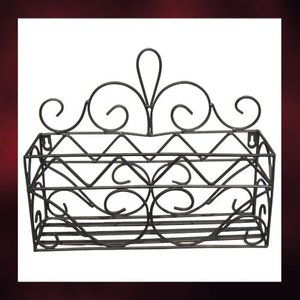 アイアン飾り(ロートアイアン・インテリア・飾り・アンティーク風・フラワーボックス) INK-1401044H|ink-co
