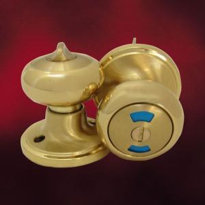 [過去取り扱った商品]アンティークドアノブ(ゴールド・表示錠・トイレ用・内鍵) INK-609SB-BK|ink-co