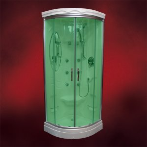 【受注生産品】ガラスシャワーブースFRP素材(節水タイプシャワーヘッド・シャワールーム・シャワーユニット) INK-949Aグリーン|ink-co