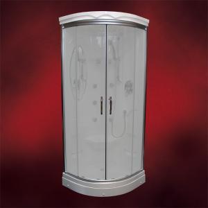 【受注生産品】ガラスシャワーブース(節水タイプシャワーヘッド・シャワールーム・シャワーユニット) INK-949Aスモーク(スリガラス)|ink-co