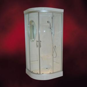 FRP製ガラスシャワーブース(スモーク・ボディシャワー無・サーモスタット・Made in Japan) W920×D920×H2120 INK-949C|ink-co