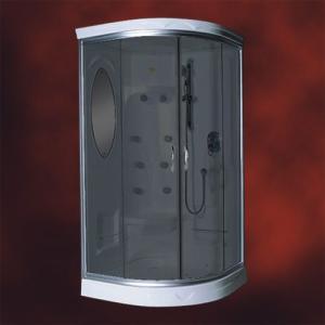 【受注生産品】ガラスシャワーブース(節水タイプシャワーヘッド・シャワールーム・シャワーユニット) INK-949Cブラック|ink-co