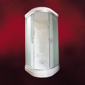 FRP製ガラスシャワーブース(スモーク・ボディシャワー無・サーモスタット・Made in Japan) W920×D920×H2120 INK-949CS-1|ink-co
