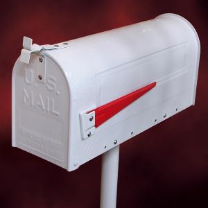 [過去取り扱った商品]アメリカンポストセット ホワイト(スタンド付き・アイアンポスト・メールボックス・郵便受け)ink-sc3134039w-set|ink-co
