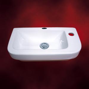 [過去取り扱った商品]小さい洗面ボウル(壁付け・陶器・洗面ボール・洗面台・シンク・手洗い器・小型・省スペース・トイレ用) INK-STR4327|ink-co