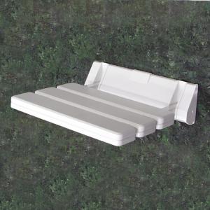 壁付けイスホワイト(簡易椅子・玄関ベンチ・コンパクト・収納タイプ)k-isu-white|ink-co