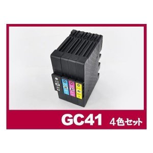 【商品情報】 ■商品名:GC41 4色セット Mサイズ プリンター リコー インク gc41 4色パ...