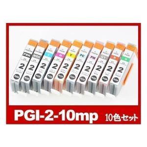 PGI-2 10色マルチパック プリンターインク Canon キャノン 互換インクカートリッジ