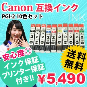 PGI-2 10色セット 互換インク キャノン PGI2 あすつく :PIXUS-Pro9500 PIXUS-Pro9500-MarkII 対応|ink48