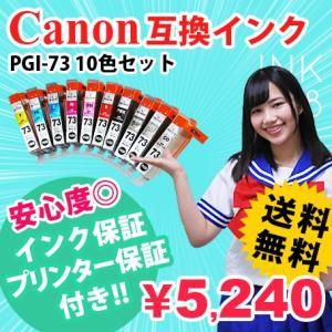 PGI-73/10MP 10色セット 互換インクカートリッジ キャノン CANON PGI73 あすつく PIXUS-PRO-10 PIXUS-PRO-10S 対応|ink48