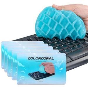 ColorCoral 粘着クリーナー キーボード 掃除 車内設備 隙間 汚れ ホコリ取り スライム クリーナー 強力粘着 繰り返し 多用途 柔らかい inkgekiyasu