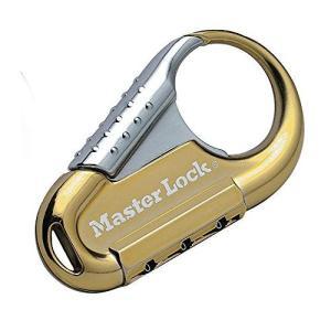Master Lock (マスターロック) カラビナ型ナンバー可変式ロック 3桁 1547JADGLD ゴールド|inkgekiyasu