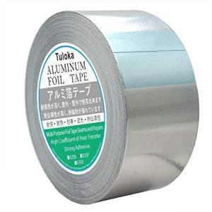 Tuloka アルミテープ、50mm幅 25mアルミ箔粘着テープ 耐熱性 防湿性 inkgekiyasu