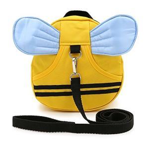 Sumnacon 迷子防止ひも リード付き リュックバッグ ぬいぐるみ 可愛い動物たち (黄色い) inkgekiyasu