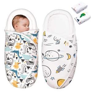 おくるみ 2枚入り ベビー 寝袋 ブランケット 赤ちゃん布団 夜泣き対策 ベビーグッズ 綿100% 柔らかく 敏感肌適合 出産準備 出産祝い 授乳ケー inkgekiyasu