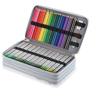 Sumnacon 300本入れ PU 色鉛筆ケース ペンシルホルダー 色鉛筆ホルダー 色鉛筆 マーカー ペン 文具収納 筆箱 大容量 シンプル ペンケ inkgekiyasu